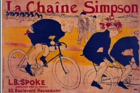 Vintage French cycling poster - La Chaine Simpson